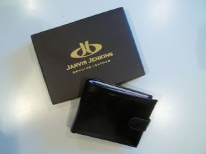 Black Wallet with Popper Fastening